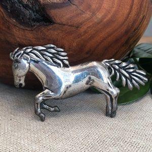 Vintage Wagner Desantis Sterling Horse Brooch